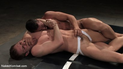 Photo number 2 from Shane Erickson vs Rusty Stevens<br />The Water Match shot for Naked Kombat on Kink.com. Featuring Rusty Stevens and Shane Erickson in hardcore BDSM & Fetish porn.
