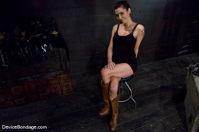 Photo number 2 from Princess Donna <br>World famous Mistress, helpless on the sybian<br>made to cum like a common whore shot for Device Bondage on Kink.com. Featuring Princess Donna Dolore in hardcore BDSM & Fetish porn.