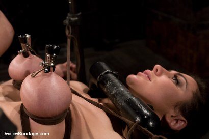 Photo number 7 from Princess Donna<br>World famous mistress bound<br>and begging to cum. shot for Device Bondage on Kink.com. Featuring Princess Donna Dolore in hardcore BDSM & Fetish porn.