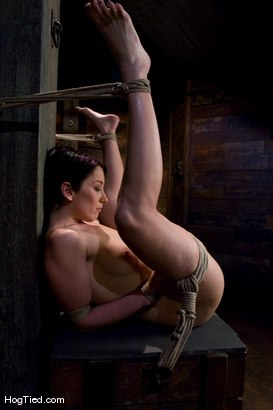 Photo number 4 from January Seraph: HOT Domme submits to my rope & fucking shot for Hogtied on Kink.com. Featuring January Seraph in hardcore BDSM & Fetish porn.
