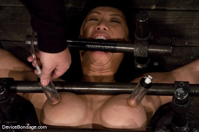 Photo number 6 from Tia Ling<br>Impaled in a one person prison. shot for Device Bondage on Kink.com. Featuring Tia Ling in hardcore BDSM & Fetish porn.