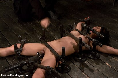 Photo number 7 from Tia Ling<br>Impaled in a one person prison. shot for Device Bondage on Kink.com. Featuring Tia Ling in hardcore BDSM & Fetish porn.