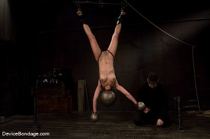 Photo number 2 from Tia Ling<br> Inverted, suspended, tortured, as her rock hard body<br>is sexually abused. shot for Device Bondage on Kink.com. Featuring Tia Ling in hardcore BDSM & Fetish porn.