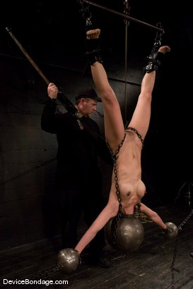 Photo number 12 from Tia Ling<br> Inverted, suspended, tortured, as her rock hard body<br>is sexually abused. shot for Device Bondage on Kink.com. Featuring Tia Ling in hardcore BDSM & Fetish porn.