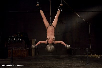 Photo number 6 from Tia Ling<br> Inverted, suspended, tortured, as her rock hard body<br>is sexually abused. shot for Device Bondage on Kink.com. Featuring Tia Ling in hardcore BDSM & Fetish porn.