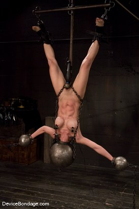 Photo number 7 from Tia Ling<br> Inverted, suspended, tortured, as her rock hard body<br>is sexually abused. shot for Device Bondage on Kink.com. Featuring Tia Ling in hardcore BDSM & Fetish porn.