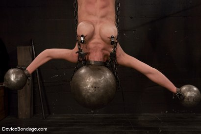 Photo number 8 from Tia Ling<br> Inverted, suspended, tortured, as her rock hard body<br>is sexually abused. shot for Device Bondage on Kink.com. Featuring Tia Ling in hardcore BDSM & Fetish porn.