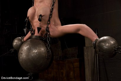 Photo number 9 from Tia Ling<br> Inverted, suspended, tortured, as her rock hard body<br>is sexually abused. shot for Device Bondage on Kink.com. Featuring Tia Ling in hardcore BDSM & Fetish porn.