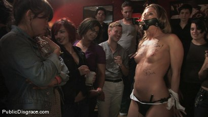 Photo number 2 from All Girl Public Disgrace: Ariel X humiliated and used in a queer bar shot for Public Disgrace on Kink.com. Featuring Ariel X and Dana DeArmond in hardcore BDSM & Fetish porn.