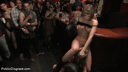 Photo number 8 from All Girl Public Disgrace: Ariel X humiliated and used in a queer bar shot for Public Disgrace on Kink.com. Featuring Ariel X and Dana DeArmond in hardcore BDSM & Fetish porn.