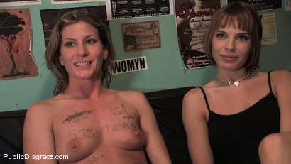 Photo number 15 from All Girl Public Disgrace: Ariel X humiliated and used in a queer bar shot for Public Disgrace on Kink.com. Featuring Ariel X and Dana DeArmond in hardcore BDSM & Fetish porn.