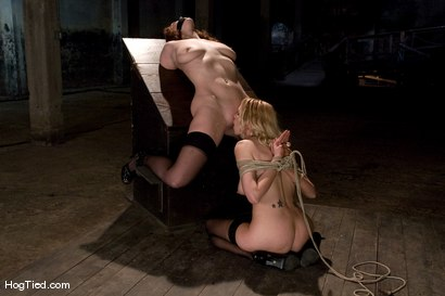 Photo number 6 from Two Fucking Bondage Whores.... shot for Hogtied on Kink.com. Featuring Sabrina Fox and Rain DeGrey in hardcore BDSM & Fetish porn.