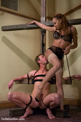 Photo number 5 from Welcome Vanilla and her 10 inch cock shot for TS Seduction on Kink.com. Featuring Vanilla and Dean Strong in hardcore BDSM & Fetish porn.