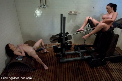 Photo number 7 from Sindee Jennings and Sophie Dee - Squirting and squirting shot for Fucking Machines on Kink.com. Featuring Sindee Jennings and Sophie Dee in hardcore BDSM & Fetish porn.