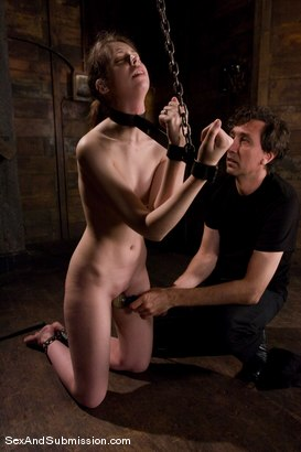 Photo number 8 from Kristine shot for Sex And Submission on Kink.com. Featuring Steve Holmes and Kristine in hardcore BDSM & Fetish porn.