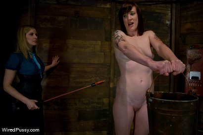 Photo number 3 from Nina Returns shot for Wired Pussy on Kink.com. Featuring Maitresse Madeline Marlowe  and Nina in hardcore BDSM & Fetish porn.