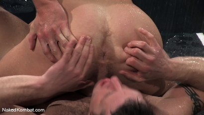 Photo number 12 from Dean Tucker vs Luke Riley<br />The Water Match shot for Naked Kombat on Kink.com. Featuring Luke Riley and Dean Tucker in hardcore BDSM & Fetish porn.