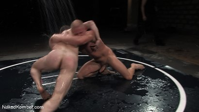 Photo number 9 from Dean Tucker vs Luke Riley<br />The Water Match shot for Naked Kombat on Kink.com. Featuring Luke Riley and Dean Tucker in hardcore BDSM & Fetish porn.