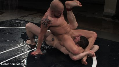 Photo number 10 from Dean Tucker vs Luke Riley<br />The Water Match shot for Naked Kombat on Kink.com. Featuring Luke Riley and Dean Tucker in hardcore BDSM & Fetish porn.
