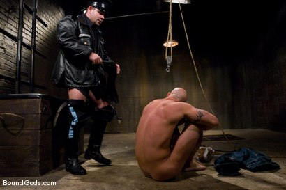 Photo number 2 from The Night Cop shot for Bound Gods on Kink.com. Featuring Brock Armstrong and Dak Ramsey in hardcore BDSM & Fetish porn.