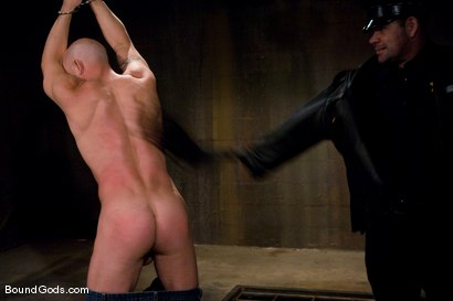 Photo number 7 from The Night Cop shot for Bound Gods on Kink.com. Featuring Brock Armstrong and Dak Ramsey in hardcore BDSM & Fetish porn.