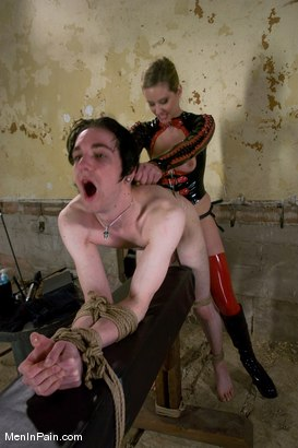 Photo number 12 from The Training of Kade, Day Two shot for Men In Pain on Kink.com. Featuring Kade and Maitresse Madeline Marlowe in hardcore BDSM & Fetish porn.