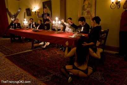Photo number 7 from The First Supper, Part Two shot for The Upper Floor on Kink.com. Featuring Maestro, Satine Phoenix, Cherry Torn, Bella Rossi, Lobo, Lilla Katt, Peter, Princess Donna Dolore, Tomcat, Miss Jade Indica, Matt Williams, Maitresse Madeline Marlowe , James, Mister Torn, Nina No and Laura Antoniou in hardcore BDSM & Fetish porn.