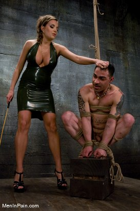 Photo number 2 from Latex Accent shot for Men In Pain on Kink.com. Featuring Nika Noire and Rico in hardcore BDSM & Fetish porn.