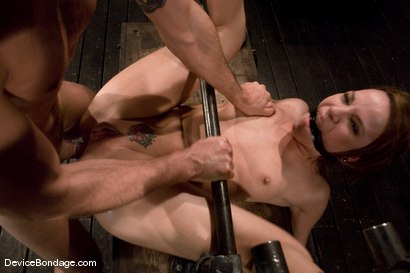 "Photo number 13 from Dana DeArmond<br>Trapped in the ultimate of ""fuck me""<br>positions and drilled in the ass! shot for Device Bondage on Kink.com. Featuring Maestro and Dana DeArmond in hardcore BDSM & Fetish porn."