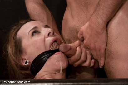 "Photo number 14 from Dana DeArmond<br>Trapped in the ultimate of ""fuck me""<br>positions and drilled in the ass! shot for Device Bondage on Kink.com. Featuring Maestro and Dana DeArmond in hardcore BDSM & Fetish porn."