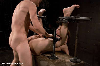 "Photo number 12 from Dana DeArmond<br>Trapped in the ultimate of ""fuck me""<br>positions and drilled in the ass! shot for Device Bondage on Kink.com. Featuring Maestro and Dana DeArmond in hardcore BDSM & Fetish porn."