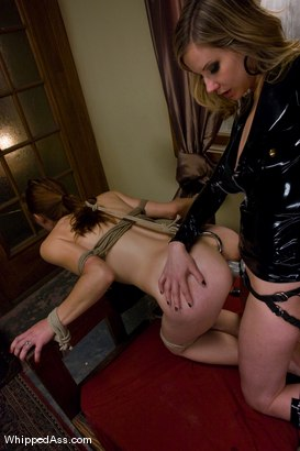 Photo number 11 from Slave Girl Earns a Bed shot for Whipped Ass on Kink.com. Featuring Maitresse Madeline Marlowe and Delilah Knight in hardcore BDSM & Fetish porn.