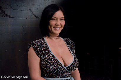 Photo number 1 from Claire Dames<br>Her huge tits are a curse and a blessing shot for Device Bondage on Kink.com. Featuring Claire Dames in hardcore BDSM & Fetish porn.