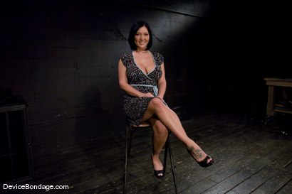 Photo number 1 from Claire Dames<br>Her huge tits, brutally bound and oiled. <br>Her body spread and tortured.<br> shot for Device Bondage on Kink.com. Featuring Claire Dames in hardcore BDSM & Fetish porn.