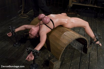 Claire Dames Her huge tits, brutally bound and oiled. Her body spread and tormented.