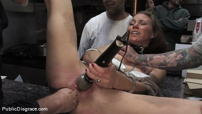 Photo number 8 from Hot amateur fucked in diner and made to give bj's to strangers!!! shot for Public Disgrace on Kink.com. Featuring Mark Davis and Delilah Knight in hardcore BDSM & Fetish porn.