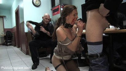 Photo number 5 from Hot amateur fucked in diner and made to give bj's to strangers!!! shot for Public Disgrace on Kink.com. Featuring Mark Davis and Delilah Knight in hardcore BDSM & Fetish porn.