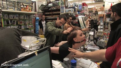 Photo number 10 from Hot redhead gets publicly fucked and fondled in a hardware store shot for Public Disgrace on Kink.com. Featuring Lilla Katt and Maestro in hardcore BDSM & Fetish porn.
