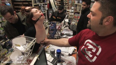 Photo number 8 from Hot redhead gets publicly fucked and fondled in a hardware store shot for Public Disgrace on Kink.com. Featuring Lilla Katt and Maestro in hardcore BDSM & Fetish porn.