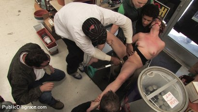 Photo number 7 from Hot redhead gets publicly fucked and fondled in a hardware store shot for Public Disgrace on Kink.com. Featuring Lilla Katt and Maestro in hardcore BDSM & Fetish porn.