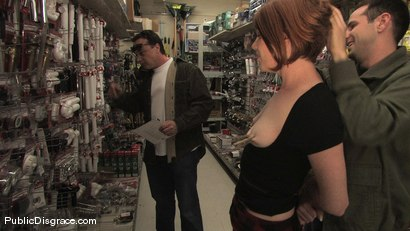 Photo number 3 from Hot redhead gets publicly fucked and fondled in a hardware store shot for Public Disgrace on Kink.com. Featuring Lilla Katt and Maestro in hardcore BDSM & Fetish porn.