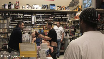 Photo number 14 from Hot redhead gets publicly fucked and fondled in a hardware store shot for Public Disgrace on Kink.com. Featuring Lilla Katt and Maestro in hardcore BDSM & Fetish porn.