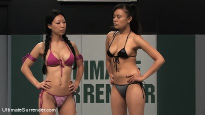 "Photo number 1 from Tia ""Jade"" Ling (0-1)<br>vs<br>Annie ""The Scorpion"" Cruz (1-0) shot for Ultimate Surrender on Kink.com. Featuring Tia Ling and Annie Cruz in hardcore BDSM & Fetish porn."