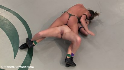 "Photo number 7 from Ariel ""The Assassin"" X (4-0) <br>vs<br>Winter ""The Blizzard"" Sky (0-0) shot for Ultimate Surrender on Kink.com. Featuring Winter Sky and Ariel X in hardcore BDSM & Fetish porn."