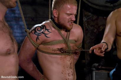 Photo number 9 from Training for TheUpperFloor.com: Part Three shot for Bound Gods on Kink.com. Featuring Geoffrey Paine, Luke Riley and Van Darkholme in hardcore BDSM & Fetish porn.
