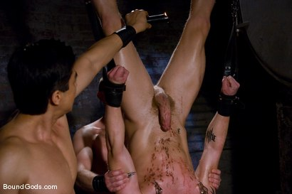 Photo number 6 from Training for TheUpperFloor.com: Part Three shot for Bound Gods on Kink.com. Featuring Geoffrey Paine, Luke Riley and Van Darkholme in hardcore BDSM & Fetish porn.