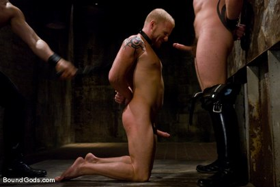 Photo number 2 from Training for TheUpperFloor.com: Part Three shot for Bound Gods on Kink.com. Featuring Geoffrey Paine, Luke Riley and Van Darkholme in hardcore BDSM & Fetish porn.