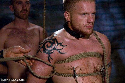 Photo number 5 from Training for TheUpperFloor.com: Part Three shot for Bound Gods on Kink.com. Featuring Geoffrey Paine, Luke Riley and Van Darkholme in hardcore BDSM & Fetish porn.
