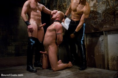 Photo number 1 from Training for TheUpperFloor.com: Part Three shot for Bound Gods on Kink.com. Featuring Geoffrey Paine, Luke Riley and Van Darkholme in hardcore BDSM & Fetish porn.