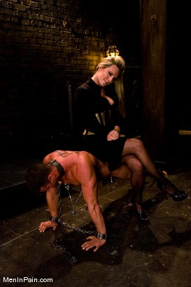Photo number 7 from Pathetic Little Prick shot for Men In Pain on Kink.com. Featuring Harmony and Rusty Stevens in hardcore BDSM & Fetish porn.